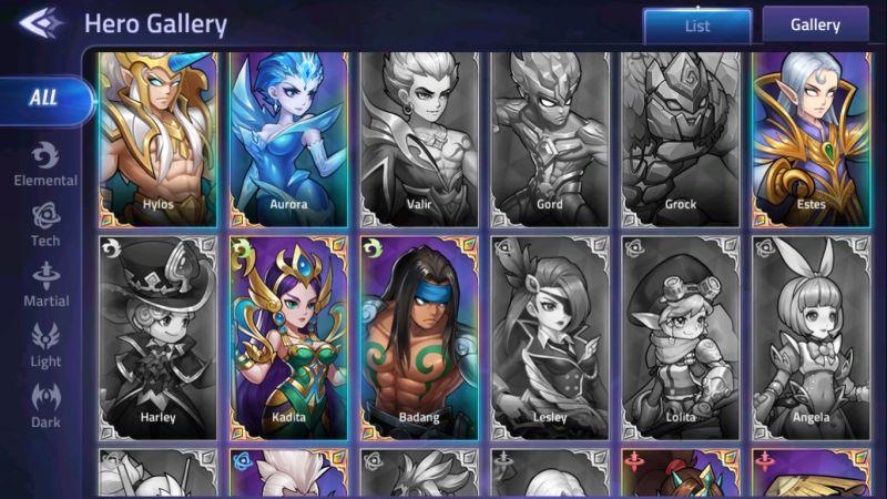 mobile legends adventure hero gallery