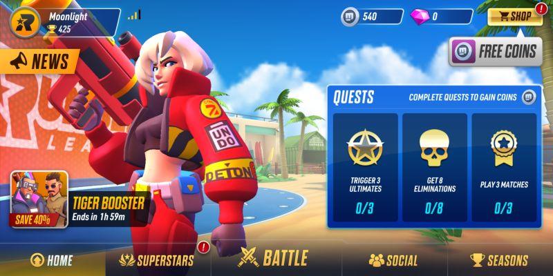rumble league quests