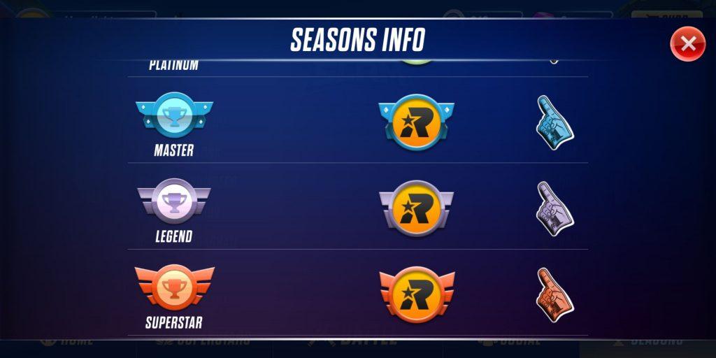 rumble league seasons