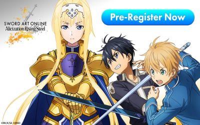 sword art online alicization rising steel pre-registration