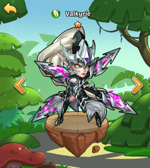 valkyrie idle heroes