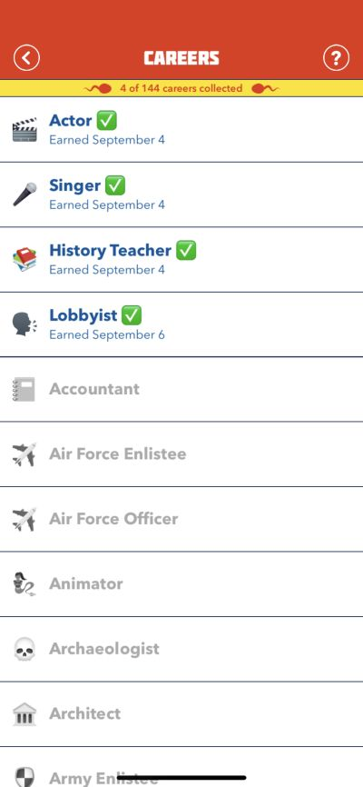 bitlife career collecting