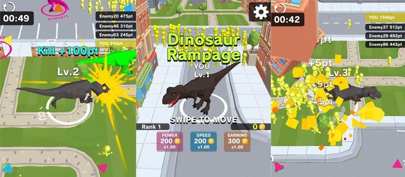 dinosaur rampage cheats