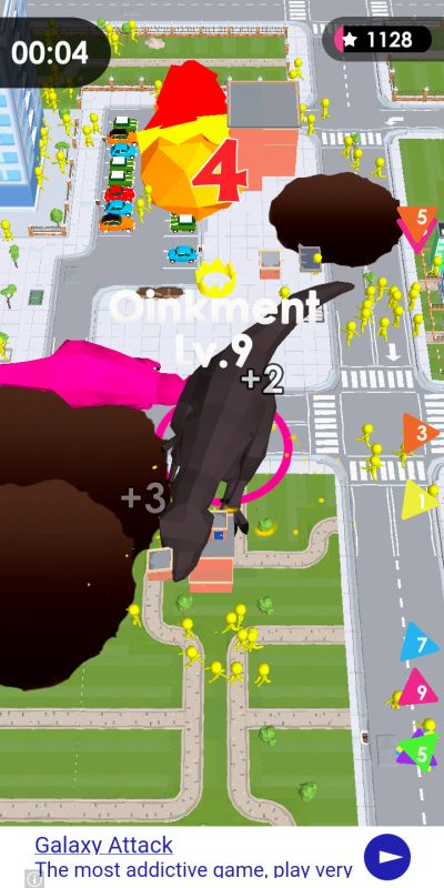 how to avoid meteors in dinosaur rampage
