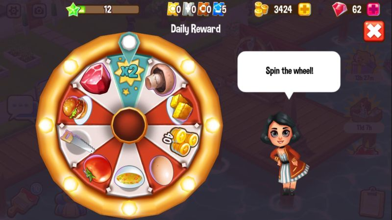 how to get more rewards in food street