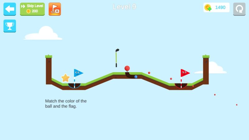 how to match ball color and flag in happy shots golf