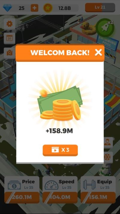 how to multiply earnings in idle gym