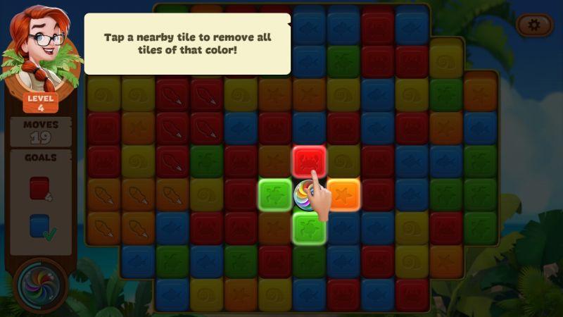 how to use rainbow pearl in lost island blast adventure
