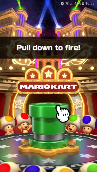 how to fire the pipe in mario kart tour