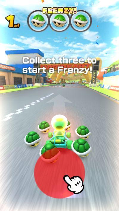 how to start frenzy mode in mario kart tour