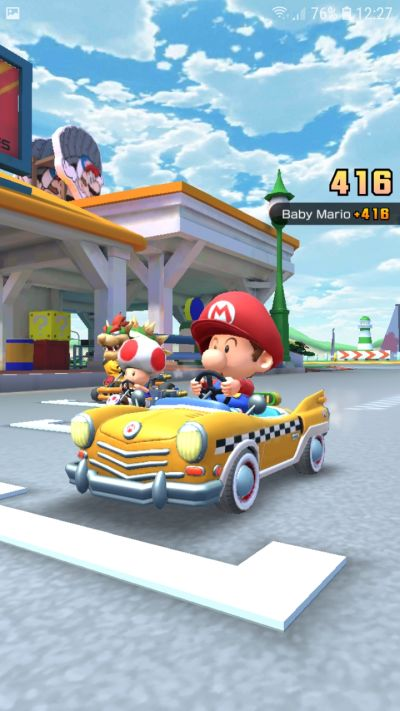 how to start fast in mario kart tour
