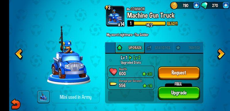 mini guns omega wars upgrades