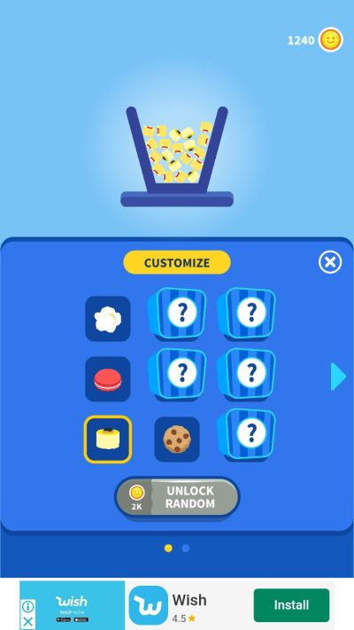 popcorn burst customization