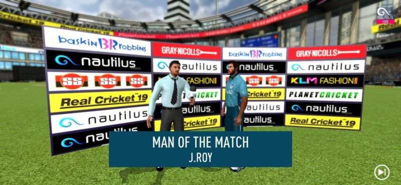 real cricket 19 man of the match