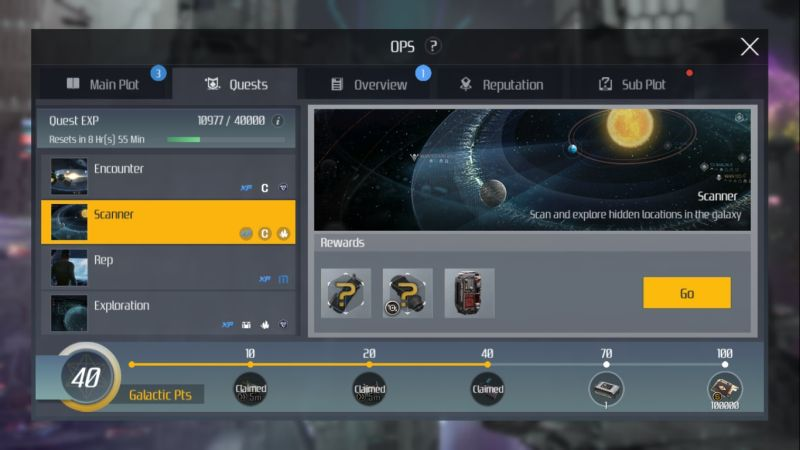 second galaxy scanner quests
