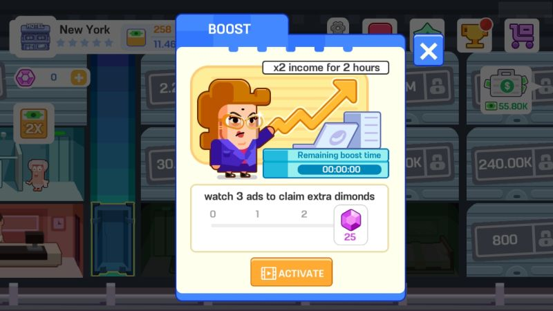 how to multiply earnings in super hotel tycoon