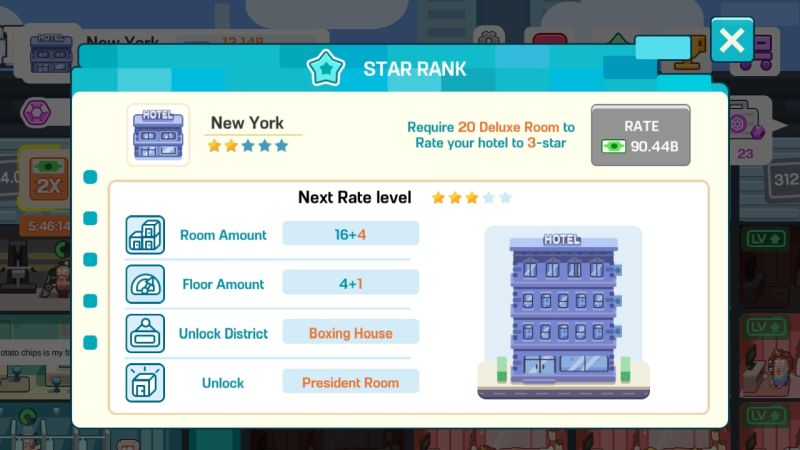 how to increase hotel star rating in super hotel tycoon