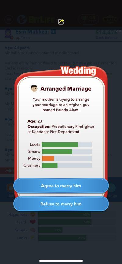 bitlife arranged marriage