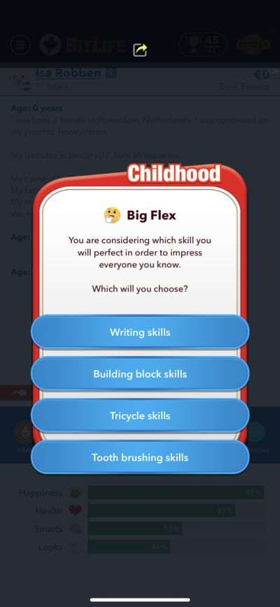 bitlife childhood