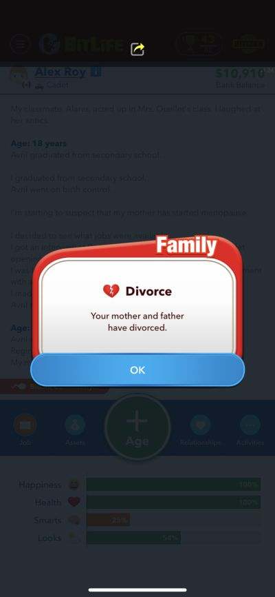 how to get a divorce in bitlife