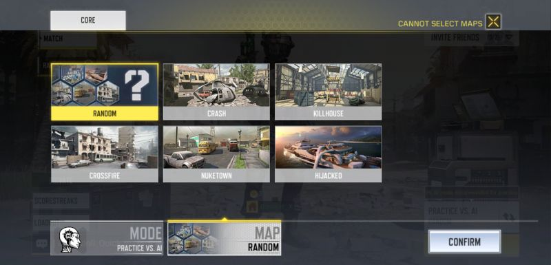 call of duty mobile practive match