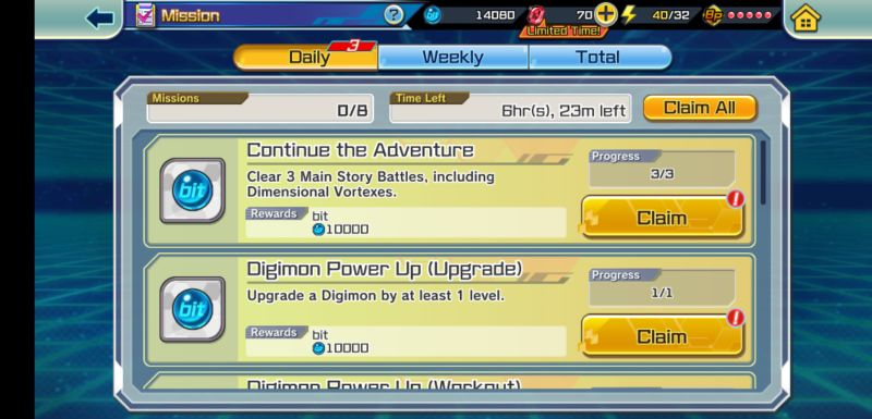 how to get more rewards in digimon rearise