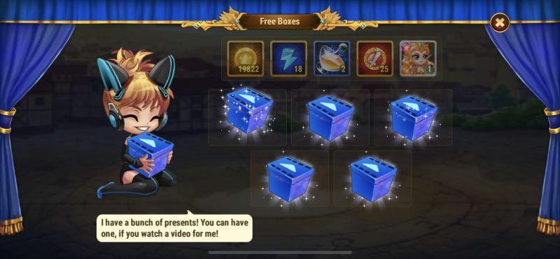 hero wars free boxes