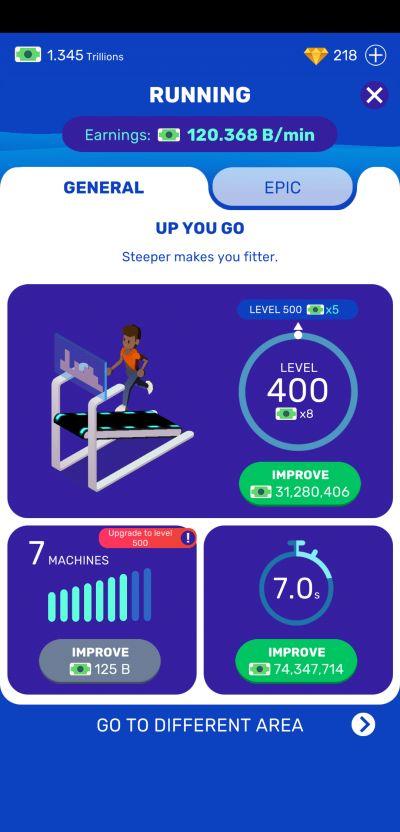 idle fitness gym tycoon milestone