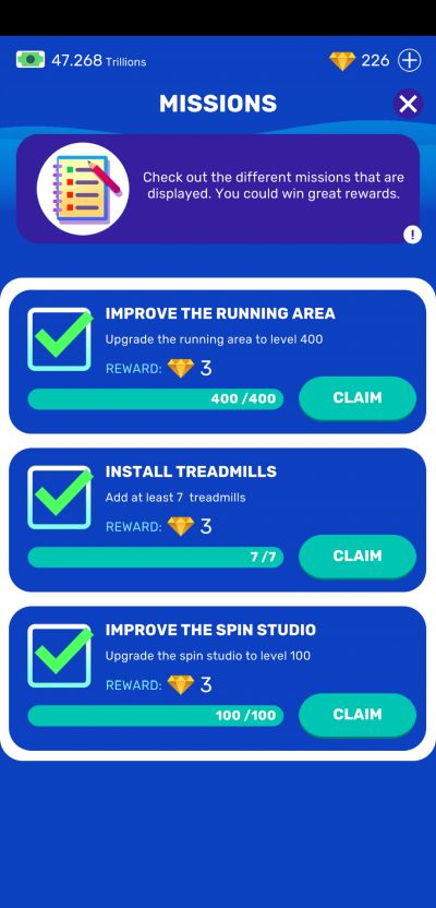 how to get more gems in idle fitness gym tycoon