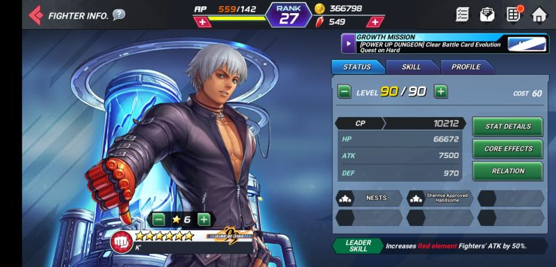 k' the king of fighters allstar