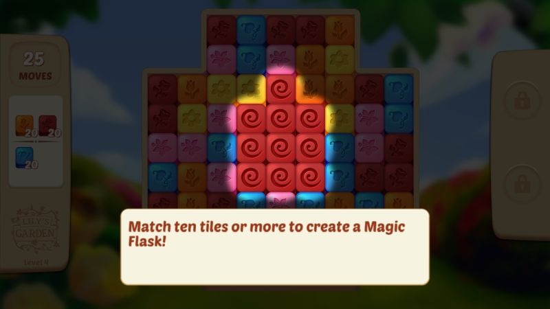 lily's garden magic flask