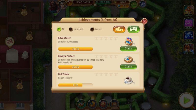 mystery manor achievements