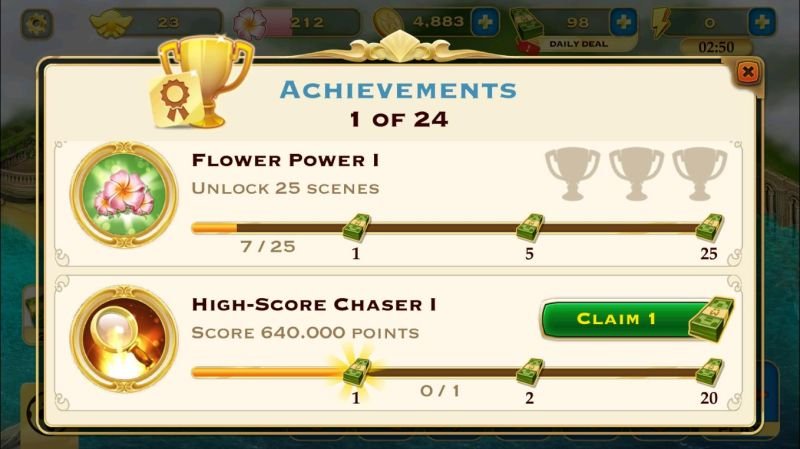 pearl's peril achievement rewards