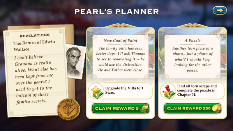 how to complete tasks on pearl's planner in pearl's peril