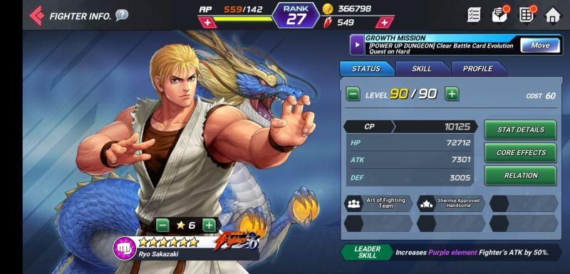 ryo sakazaki the king of fighters allstar