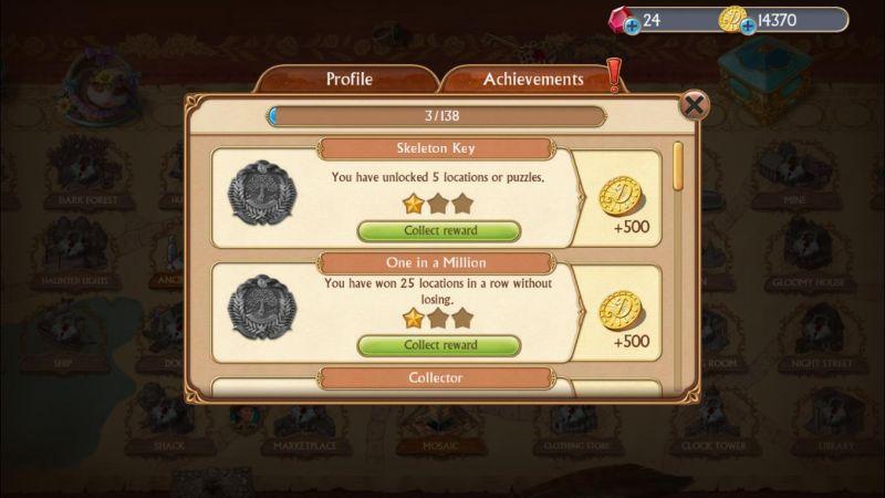 seekers notes hidden mystery achievement rewards