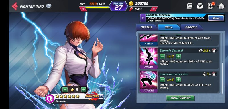 shermie the king of fighters allstar