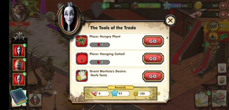 how to get more coins, exp and rubies in the addams family mystery mansion