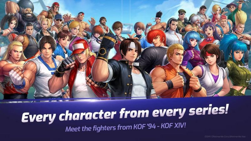 the king of fighters allstar characters