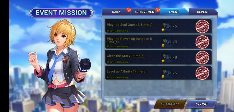 how to get more rewards in the king of fighters allstar