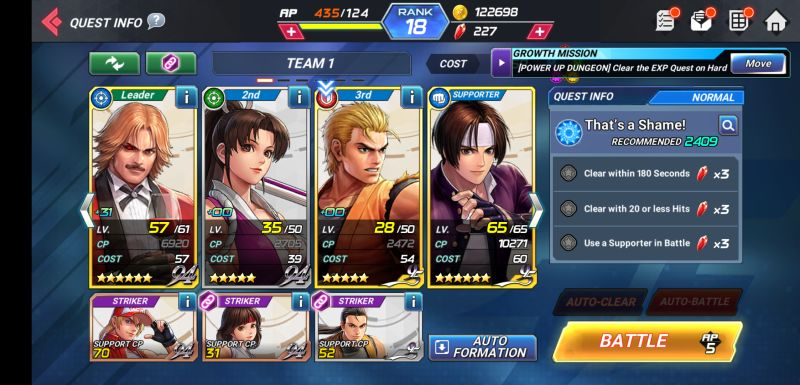 the king of fighters allstar strategies