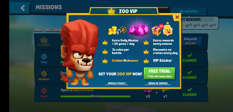 how to get free items in zooba zoo battle arena