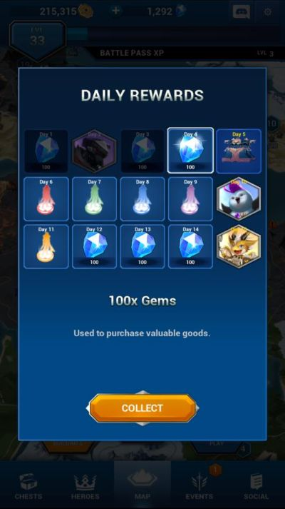 how to get daily rewards in battle breakers