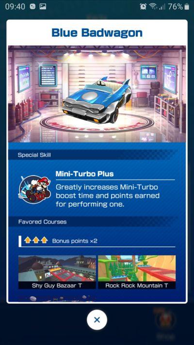 blue bandwagon mario kart tour