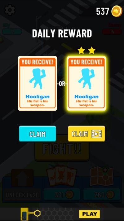 gang clash daily reward