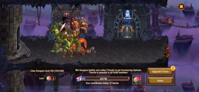 hero wars guild dungeon