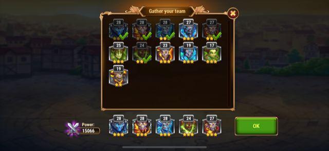 hero wars titans team
