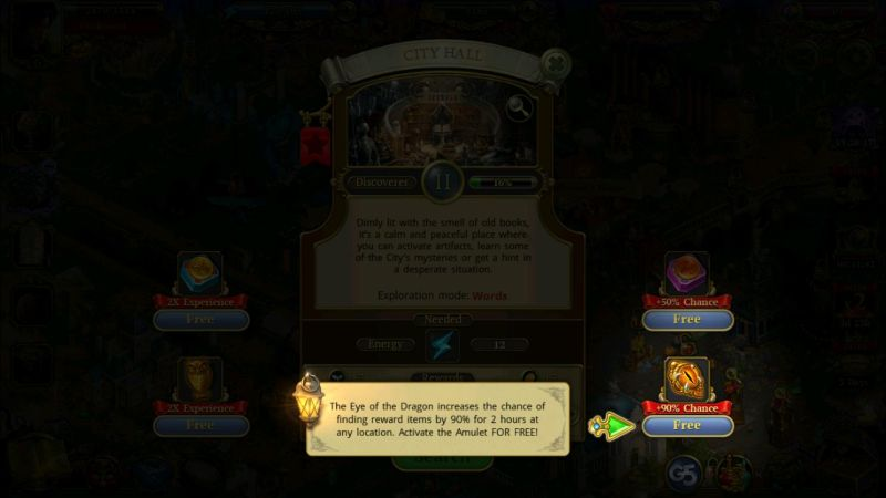 how to use boosters in hidden city hidden object adventure