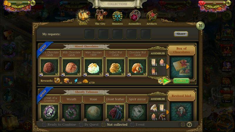 how to complete collections in hidden city hidden object adventure