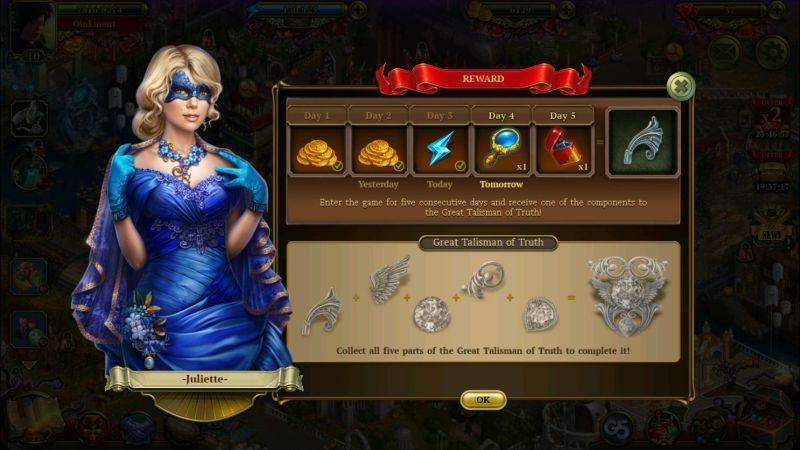 how to get rewards in hidden city hidden object adventure